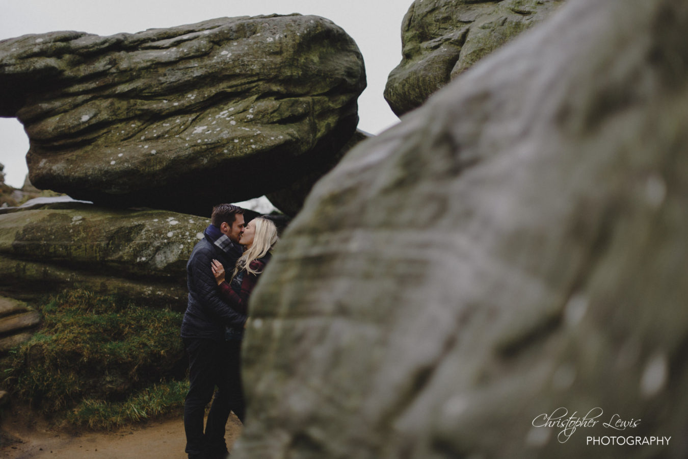Brimham Rocks Yorkshire Pre Wedding Photoshoot 1