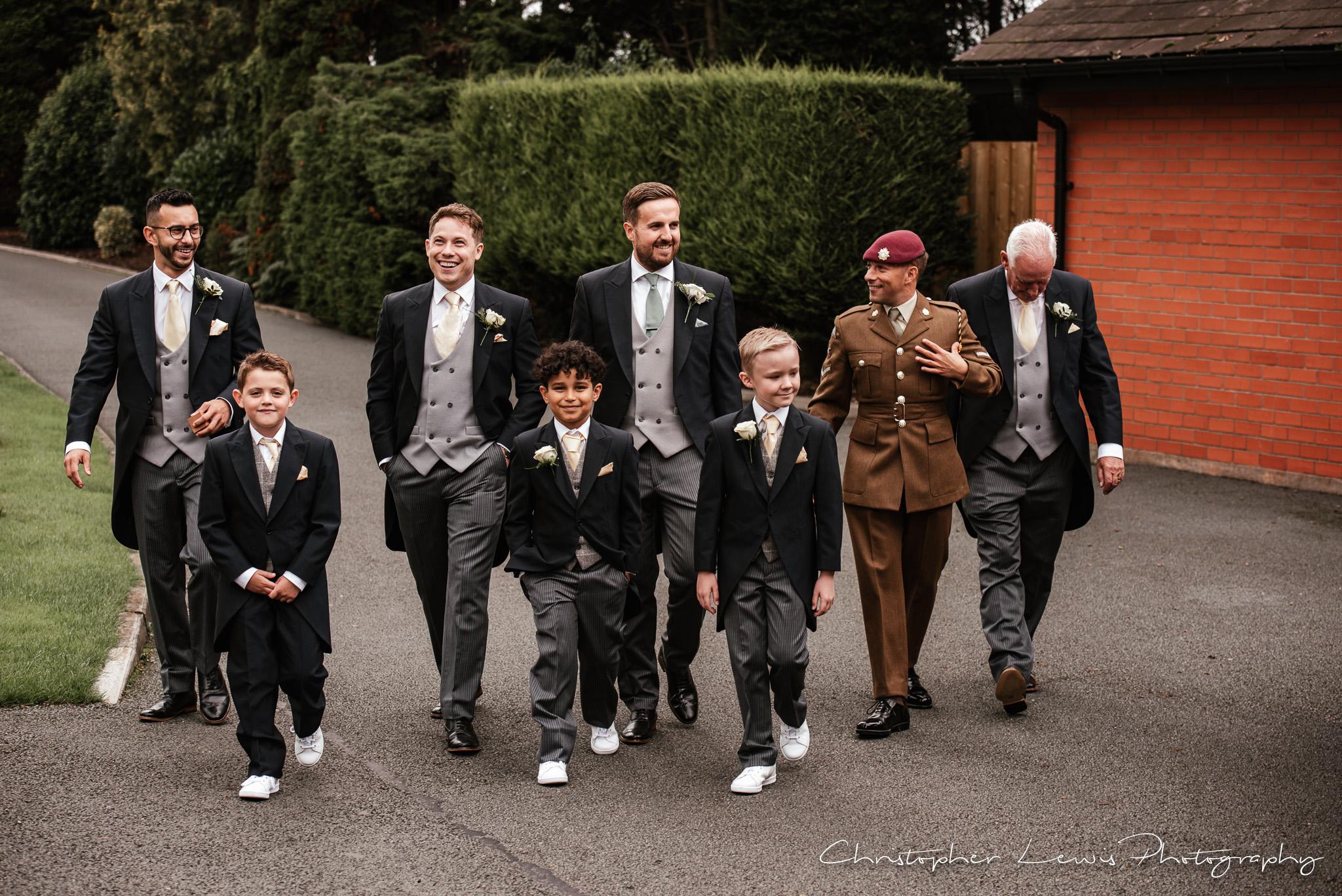 Colshaw Hall Wedding groomsmen