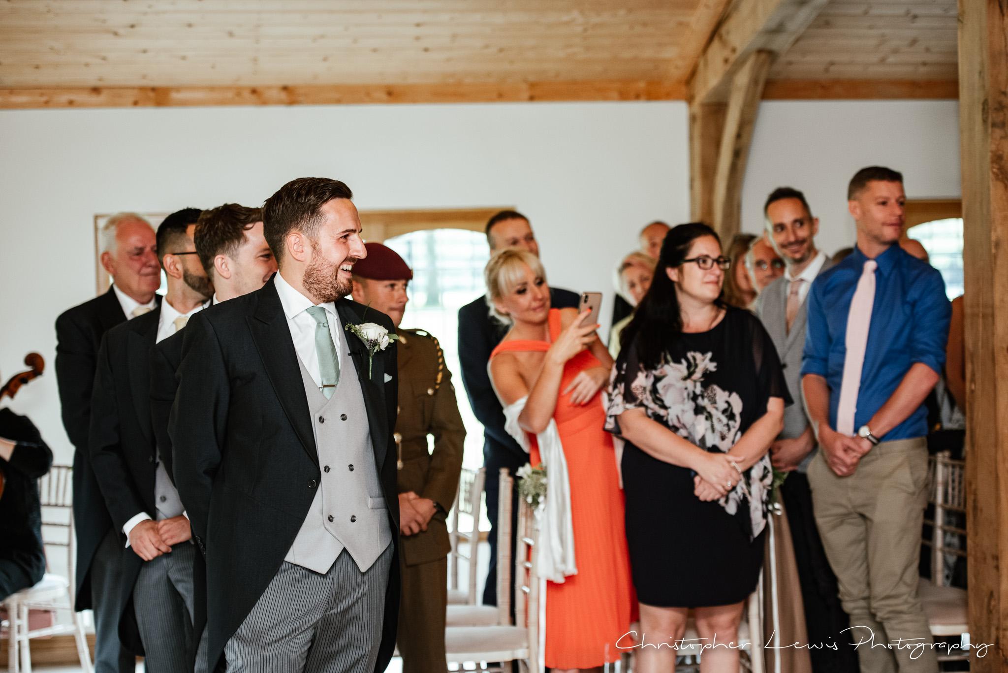 Colshaw Hall Wedding groom