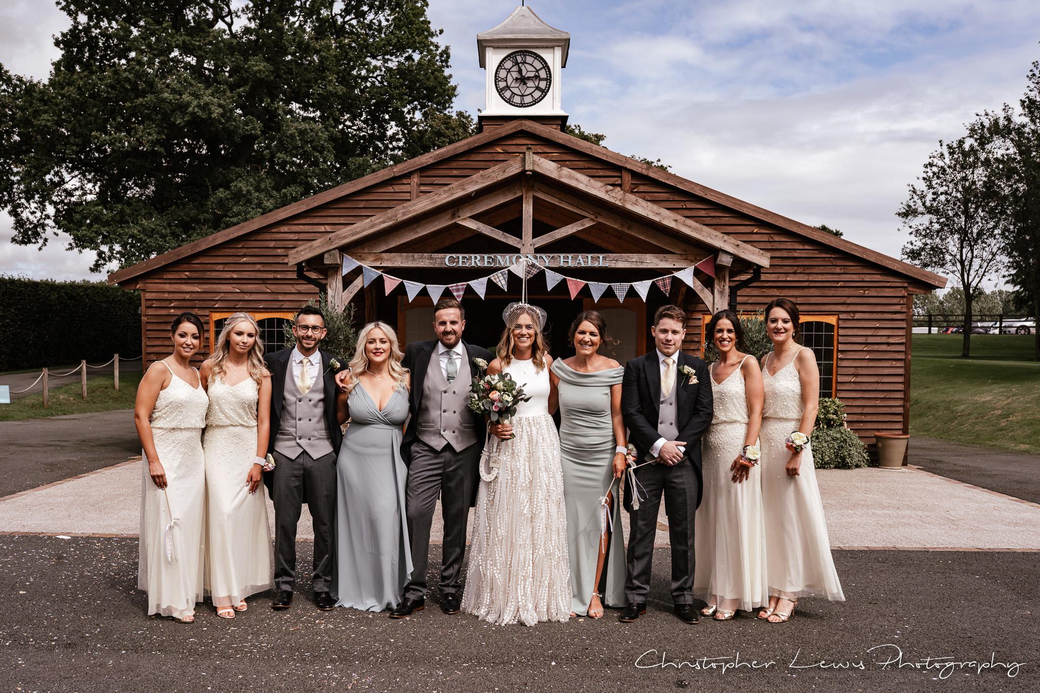 Colshaw Hall Wedding bridal party