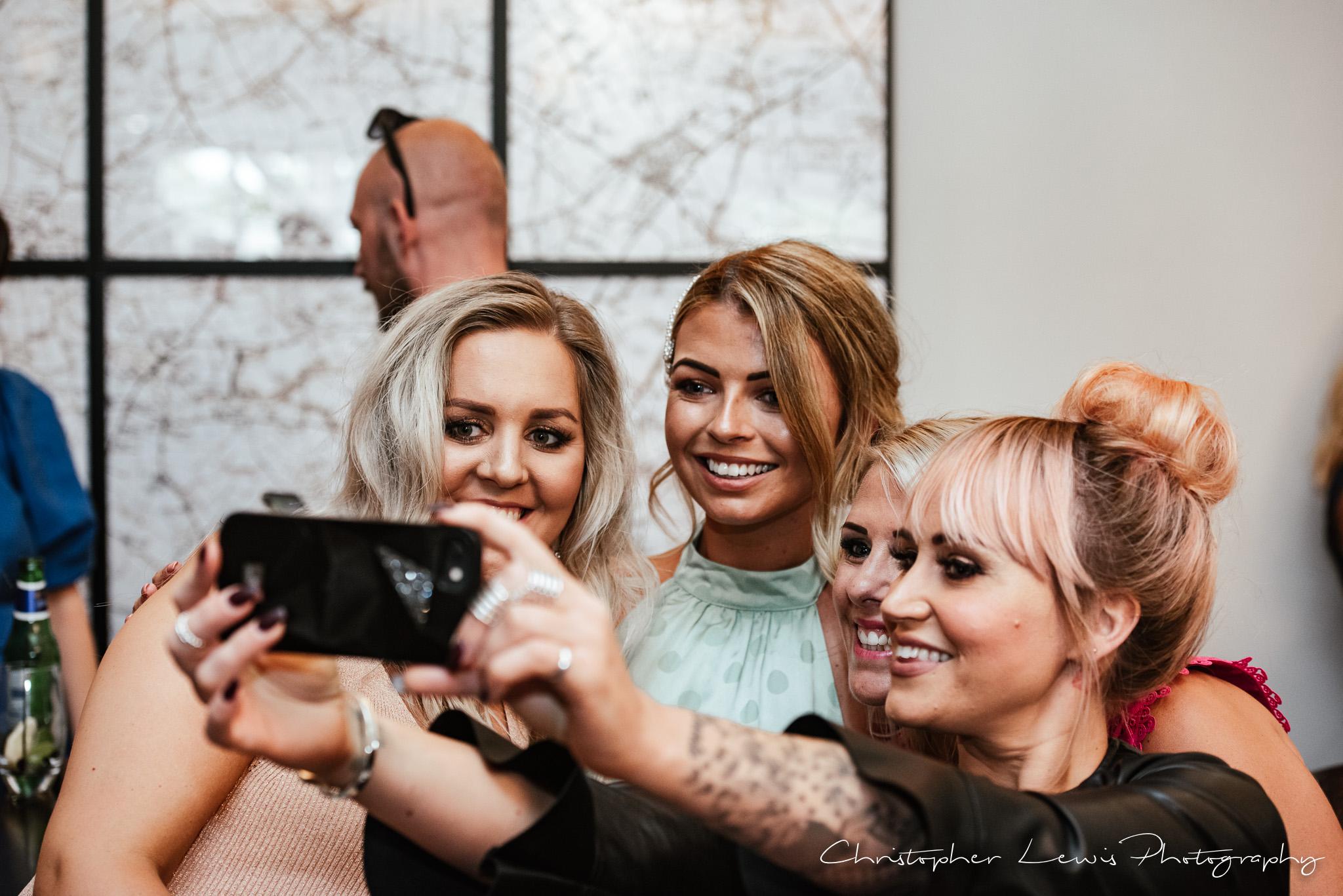 Colshaw Hall Wedding selfie