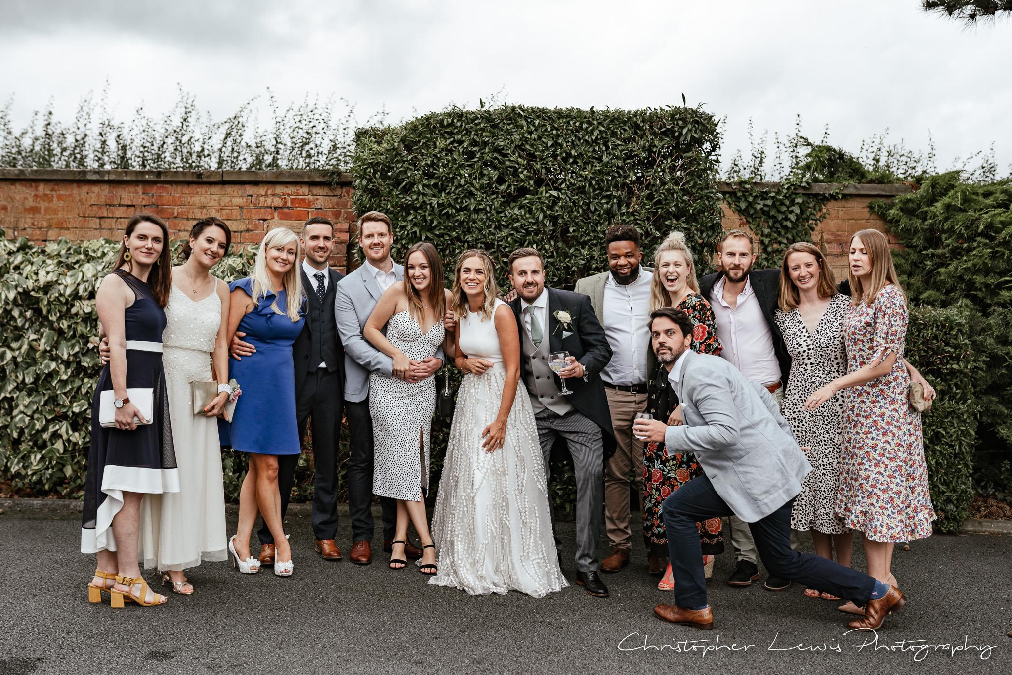 Colshaw Hall Wedding friends