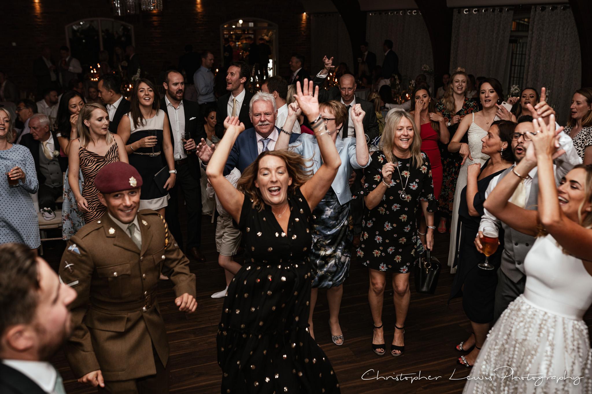 Colshaw Hall Wedding dance floor