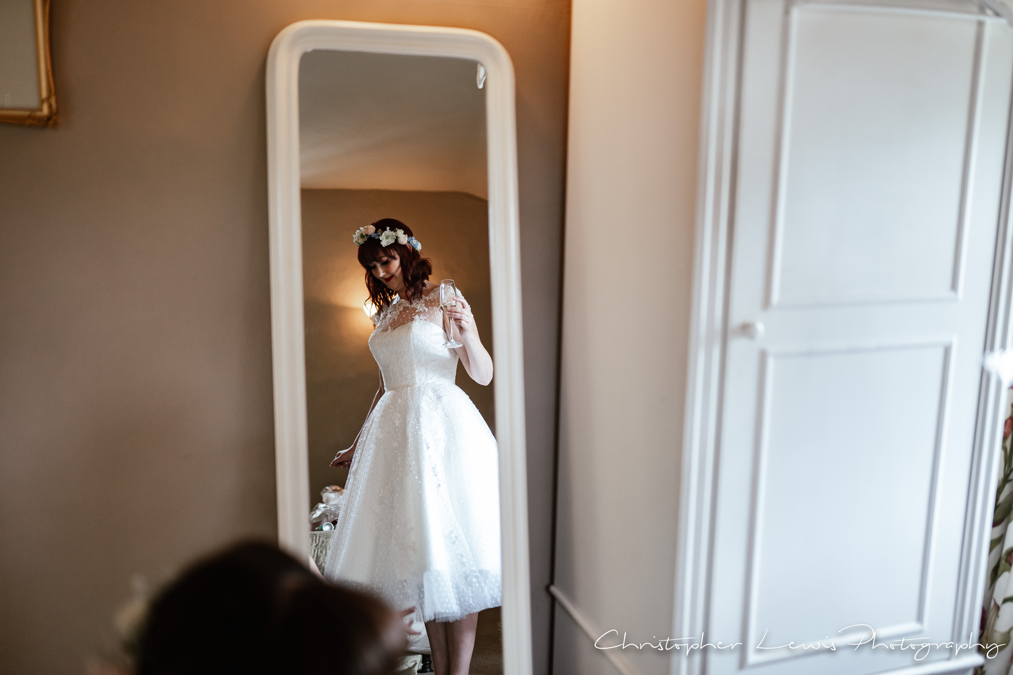Browsholme Hall Wedding wedding dress