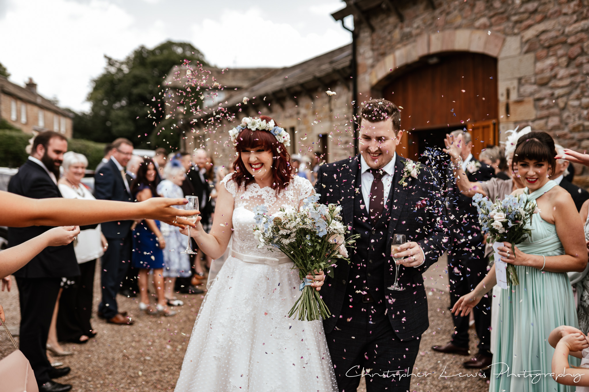 Browsholme Hall Wedding confetti