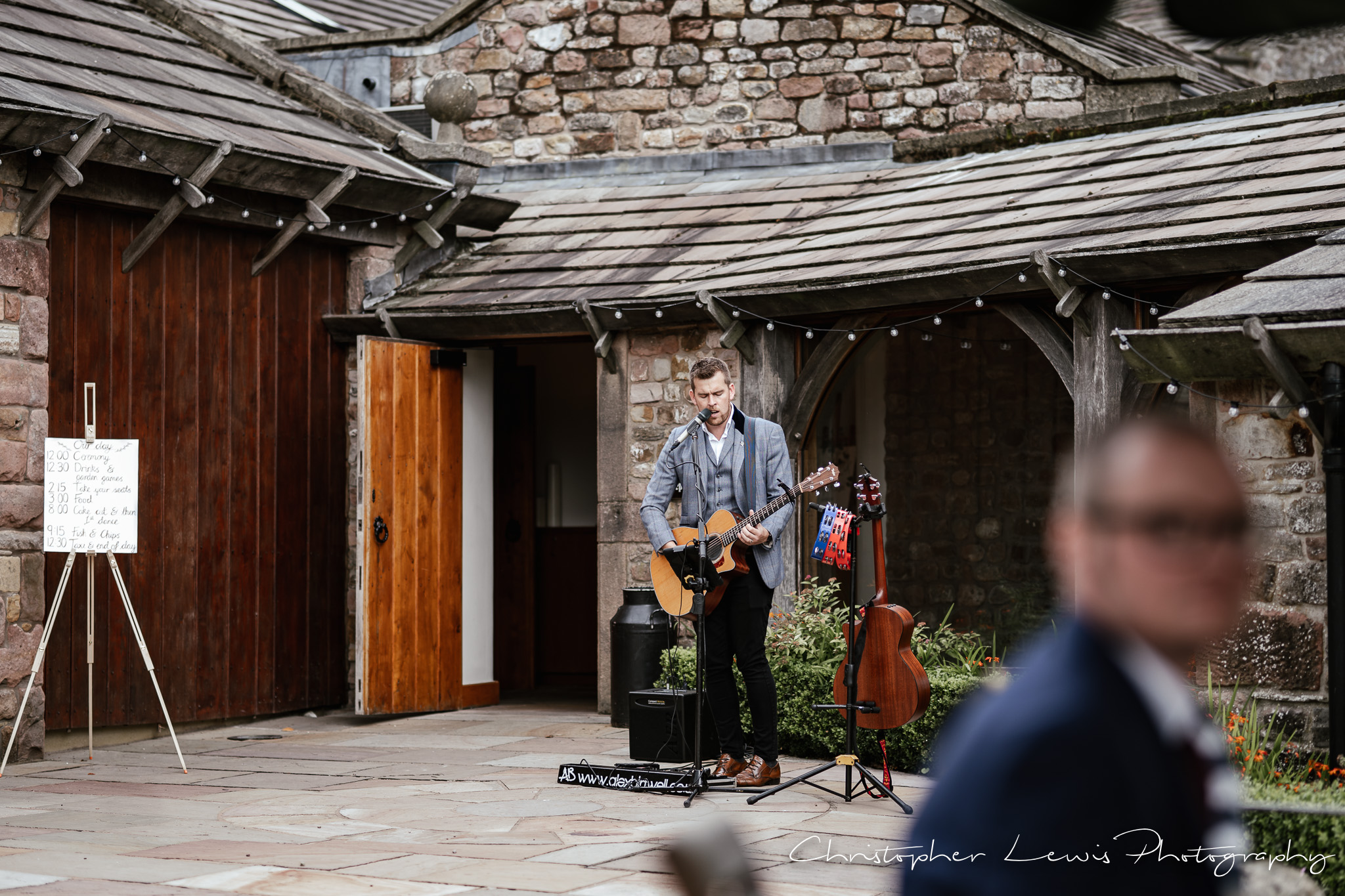 Browsholme Hall Wedding wedding singer