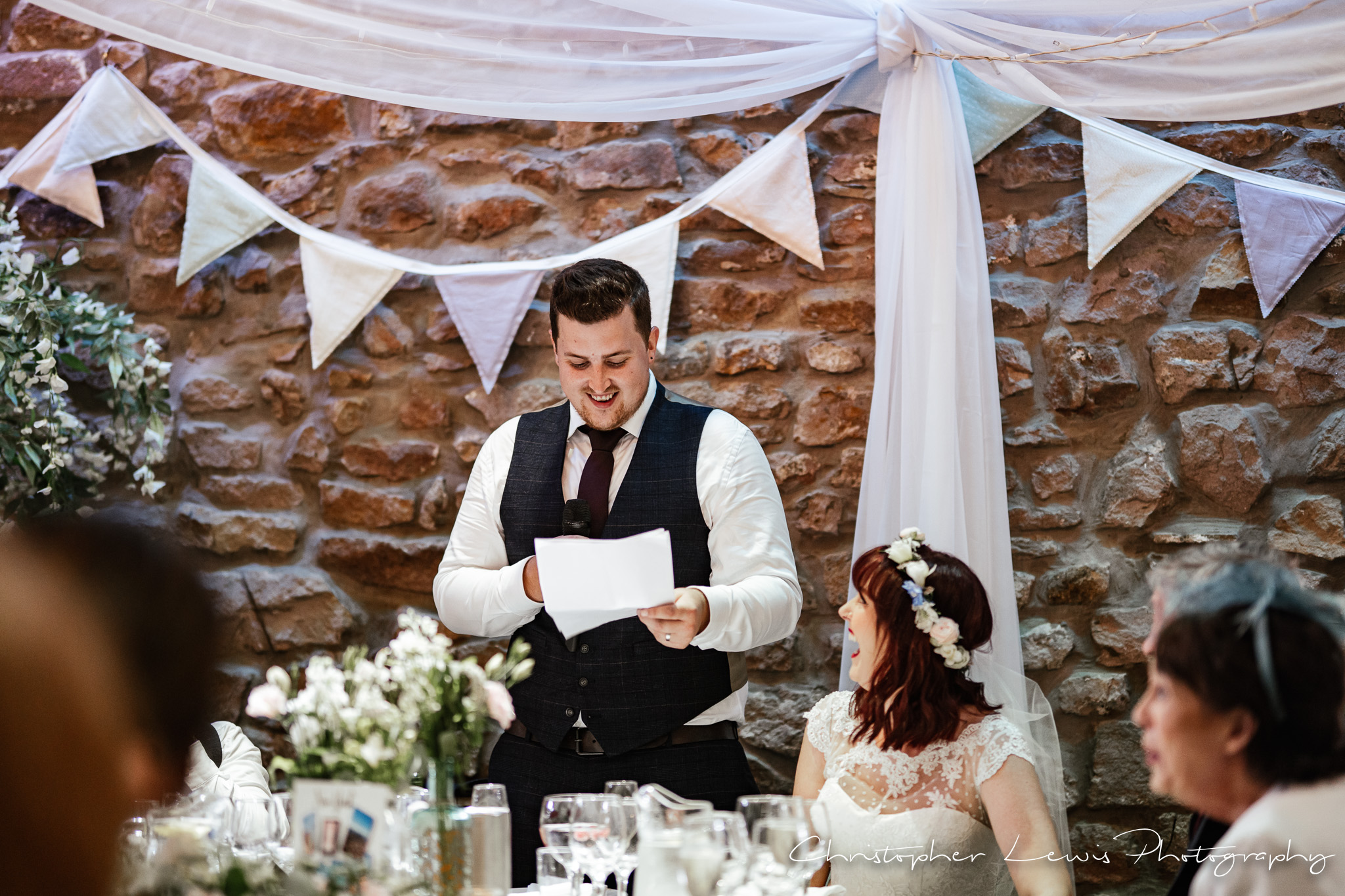 Browsholme Hall Wedding groom speech