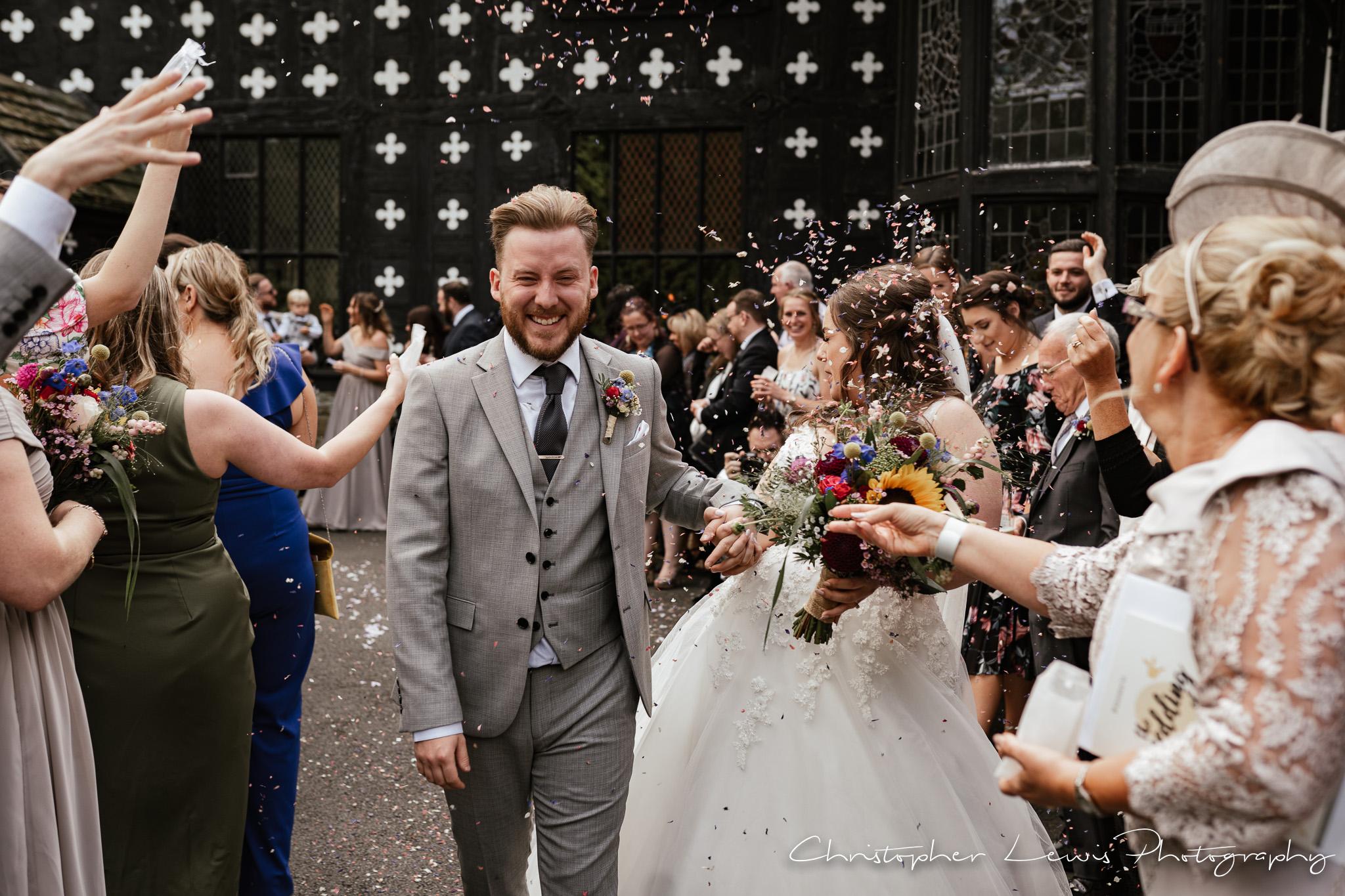 Samlesbury Hall Wedding confetti