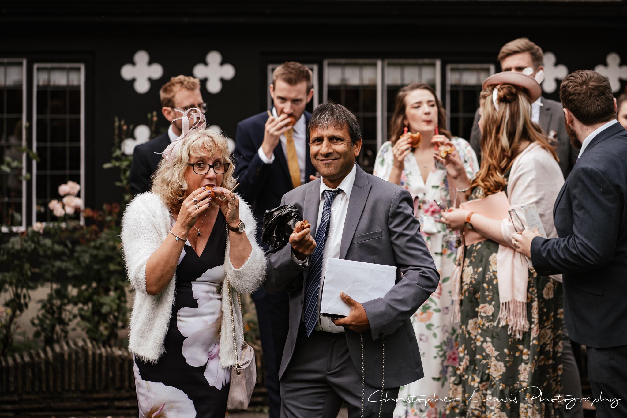 Samlesbury Hall Wedding canapés