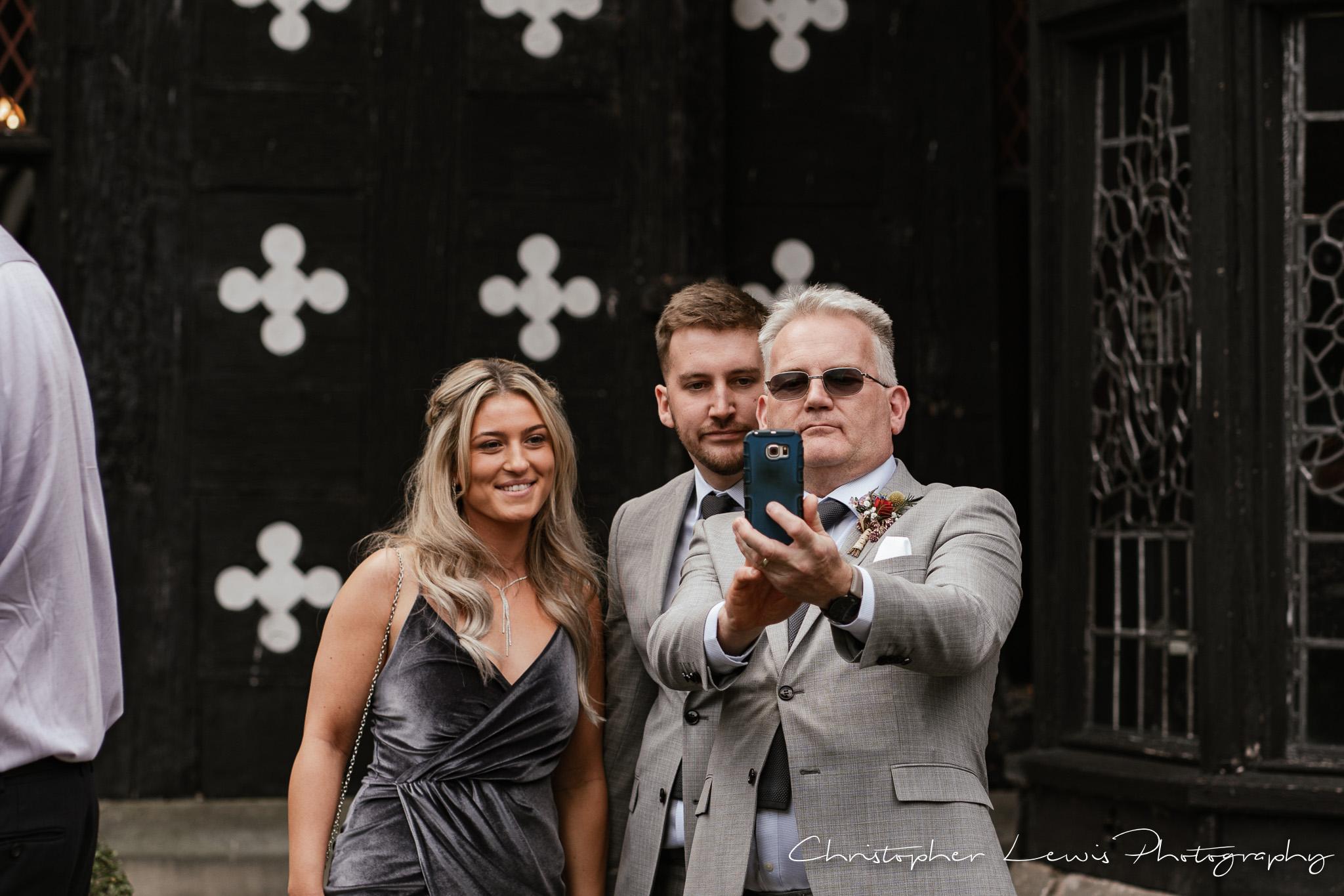Samlesbury Hall Wedding selfie