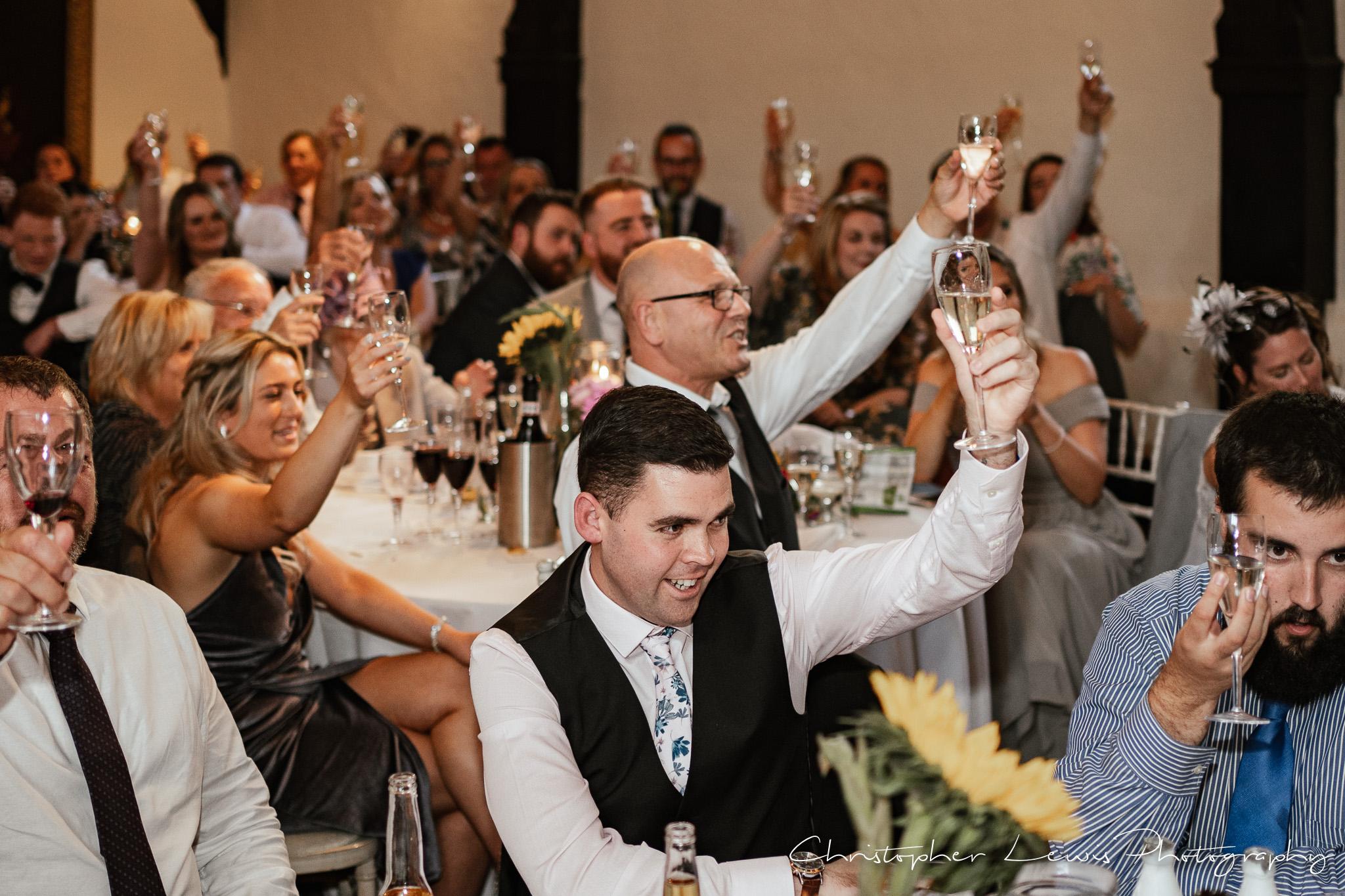 Samlesbury Hall Wedding toast