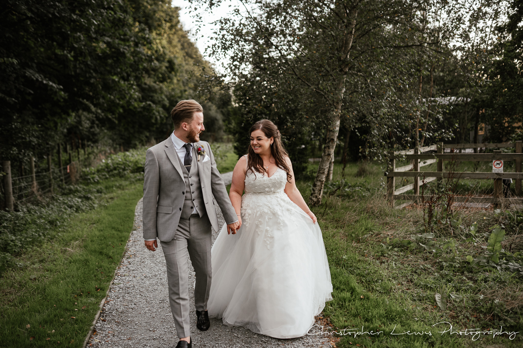 Samlesbury Hall Wedding bride and groom